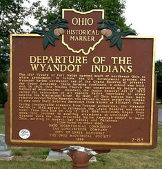 This marker text is about only the Sandusky Wyandot and a few Anderdon Wyandottes/Wyandots who went to Kansas. There were and are other groups as well.