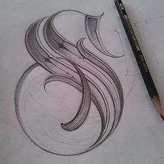 Tattoo letter s Tattoo Lettering Styles, Cursive Tattoos, Graffiti Lettering Fonts, Chicano Lettering, Calligraphy Drawing, Creative Lettering, Script Lettering, Calligraphy Letters, Typography Art