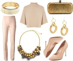 Wearing Pants to a Wedding? Here is an elegant outfit with slim trousers.