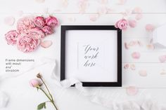 Styled stock photo - Frame mock up by White Hart Design Co. on Creative Market