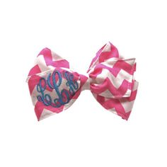 Monogram Hairbows- Variety of fabrics and colors