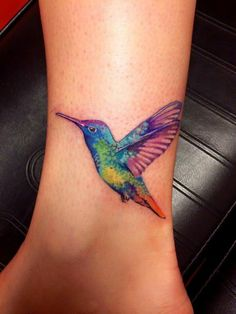 #tattoo by Natalia. Hummingbird watercolor