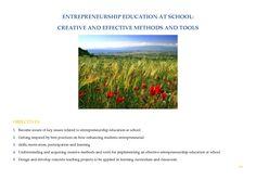 Entrepreneurship Education, Training Courses, School Teacher, Student, Motivation, Learning, Studying, Teaching, Onderwijs