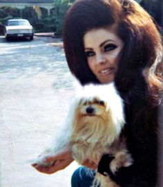 Pricilla Presley and friend c.1967 ... that certainly was SOME hair she had going there ... lol