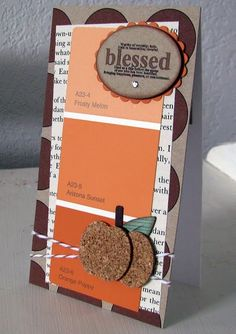 use paint chips to make a cute card!
