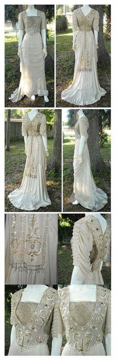 Mid 1910's Dress via Etsy. Stunning work!!