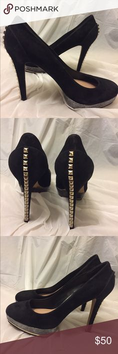 Studded Platform Vince Camuto suede spike heels 10 Good condition/ Size 10B Vince Camuto Shoes Heels