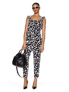 2d608845e0f butterfly crepe jumpsuit by kate spade new york Summertime Outfits