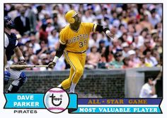 1979 Topps Dave Parker All Star MVP, Pittsburgh Pirates. Baseball Cards That Never Were
