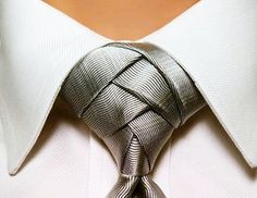 Knoten The practical manual for tie knots # Cool Tie Knots, Tie A Necktie, Necktie Knots, Style Masculin, Tie Styles, Wedding Ties, Sharp Dressed Man, Suit And Tie, Swagg