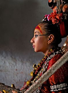 The Nepalese believe their living goddesses, or Kumaris, are manifestations of divine female energy that protects them from evils such as earthquakes and civil war