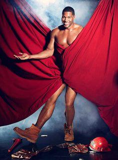 Michael Strahan Michael Strahan, Celebrity Crush, Black Men, One Shoulder, Formal Dresses, Celebrities, Beautiful, Fashion, Dresses For Formal