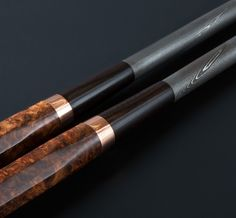 Ambroyna, Copper & Damascus Moribashi plating chopsticks handmade by Isaiah Schroeder.