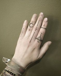 Hand Poked Finger Tattoo Designs by Goldy                                                                                                                                                                                 More