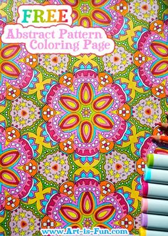 Free Abstract Pattern Coloring Page: Detailed Psychedelic Art by Thaneeya McArdle