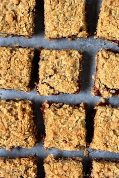 Strawberry & Black Pepper Oatmeal Crunch Squares
