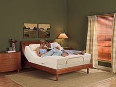 Temperpedic adjustable bed.  Makes Sleeping in a neutral position sooo easy!.  Come on in and lay down for a while!