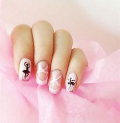 χορος και μπαλετο στα nail designs!