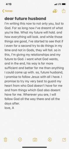 Totally gonna do this! Prayers For My Husband, Dear Future Husband, Future Boyfriend, Future Husband Quotes, Christian Boyfriend, Christian Couples, Christian Quotes, Christian Relationships, Christian Relationship Quotes