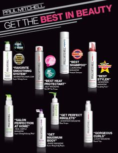 Get the Best in Beauty with Paul Mitchell Products!