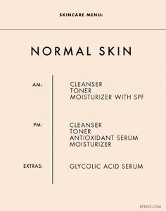 The Ultimate Daily Skincare Menu for Every Skin Type | Byrdie