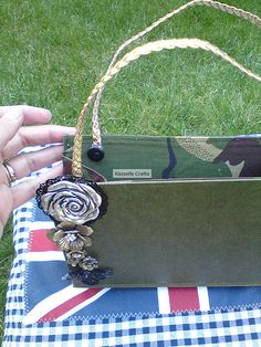 Up-cycled book into bag! by kazzells, via Flickr