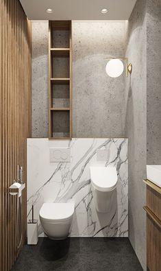 tolkointeriors.ru Condo Bathroom, White Bathroom Decor, Bathroom Design Small, Bathroom Interior, Washroom, Bathroom Inspiration, Interior Design Inspiration, Toilet Closet, Country Modern Home