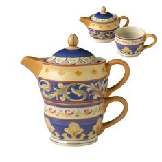 """Relax.  Unwind.  Put your feet up.  A cup of tea was made for all those things.  The top of this """"tea party for one"""" is the teapot, and the bottom is the cup.  Add a..."""