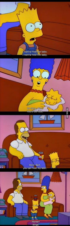Here, Bart, you can hold my beer.