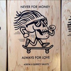 Just seen this photo on @simpleprintstudio of the Skate decks I've done for @thesurreyvaultsbristol it's all about supporting your local scene! This is a Tshirt as well so if your keen message @benhaizelden by 45rpmwhat