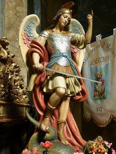 Please Saint Michael, I need your help quickly! Angels Among Us, Angels And Demons, Catholic Art, Catholic Saints, Religious Images, Religious Art, Kunst Online, Angel Warrior, Ange Demon