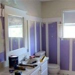Bathroom Makeover using board and batten on the walls