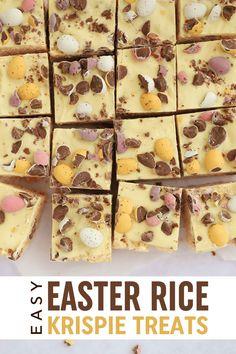 Baking Tins, Baking Recipes, Snack Recipes, Dessert Recipes, Rice Krispie Cakes, Rice Krispies, Chocolate Lovers, Chocolate Recipes, Easy Easter Recipes