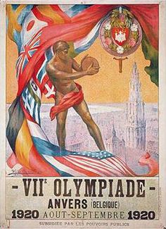 The 1920 olympics were held in Antwerp, Belgium. They were the first games to fly the olympic flag. Sports include diving, swimming, water polo, archery, athletics, boxing, cycling, equestrian, fencing, figure skating, soccer, gymnastics, field hockey, ice hockey, modern pentathlon, polo, rowing, rugby, sailing, shooting, tennis, tug of war, weightlifting, and wrestling. Korfball was a demonstration sport.