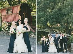 I actually kind of love these charcoal bridesmaids dresses!