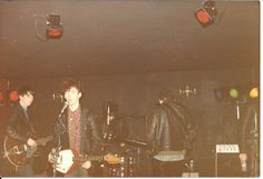 Jesus and Mary Chain, soundchecking at Ziggys club, Plymouth, 1985  Photography Valerie Hicks, courtesy of Sam Knee (author of A Scene In Between)