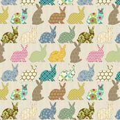 year of the COLORFUL rabbit - littlerhodydesign - Spoonflower