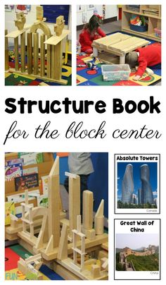 A book of world structures for the block center can inspire little builders as they explore STEM concepts in a fun way. Includes a free printable. #Preschool #Kindergarten #FreePrintable #PreschoolActivities #PreschoolCenters #KindergartenCenters #STEM