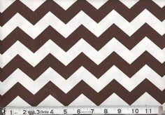 "Brown 1"" Wide Chevron Fabric"