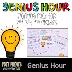 Are you looking to do Genius Hour in elementary? This packet has all of the teaching materials, students worksheets and parent letters to make sure that your Genius Hour is a positive experience in second, third, or fourth grade.  Genius Hour in the lower grades can be a lot of work if you are unprepared, but this packet makes it simple!
