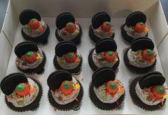 Thanksgiving Oreo cupcakes