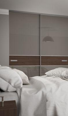 Premium Mini 3 panel fineline sliding wardrobe doors in Medium Brown and Tortonau2026 & Bella sliding wardrobe (Sibiu Larch u0026 Mirror) - | home studio design ...