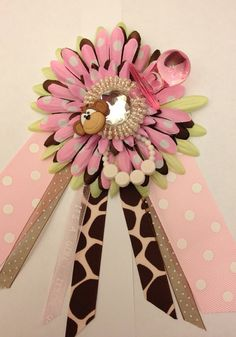 Its a Girl Baby Shower Wrist Corsage. by AdreamFulfilled on Etsy, $14.00