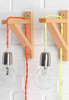 DIY Lampe: 76 super coole Bastelideen dazu simple and colorful Garderobe Design, Diy Bedroom Decor, Diy Home Decor, Diy Luz, Luminaria Diy, Diy Casa, Decoration Inspiration, Wooden Lamp, Lamp Light