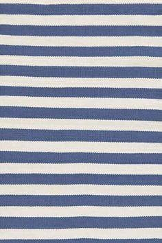 $88, Dash & Albert Trimaran Stripe Denim/Ivory Indoor/Outdoor, 3' x 5'