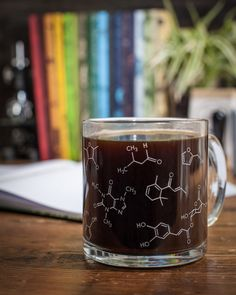 Eureka! Chemistry within your grasp! Fill this mug with your favorite French roast or Mocha Java and savor the familiar intricacies of the