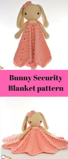 With this pattern you can crochet a beautiful bunny lovey / security blanket / comforter / snuggle which is going to be loved by your little one. It is both soft toy and a blanket/ comforter, two in one really, toy to play with and a comforter to sleep with :) #amigurumi #amigurumitoy #amigurumiaddict #crochet #ad #haken #securityblanket #blanket #baby