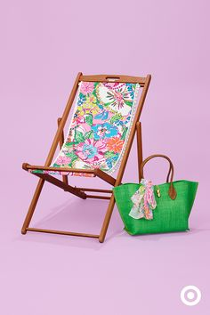 Bring the Palm Beach to your backyard. It's true, no patio is complete without this super chic Lilly Pulitzer for Target pom pom beach chair. Grab a lemonade, lay out and soak up the summer sun. Get the chair when the collection launches April 19.