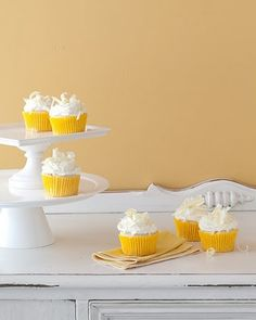 meyer lemon cupcakes with white chocolate buttercream