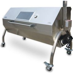 Enclosed Charcoal Spit Rotisserie BBQ - 189163 For Sale, Buy from Charcoal BBQ collection at MyDeal for best discounts. Best Meats To Smoke, Custom Smokers, Food Truck For Sale, Outdoor Patio Designs, Pizza Oven Outdoor, Pig Roast, Charcoal Bbq, Grill Design, Diy Home Improvement